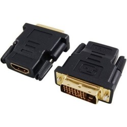 Adaptador Hembra HDMI a DVI 24 + 1 Macho