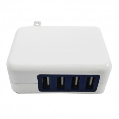 Adaptador De Corriente 4 Puertos USB Unitec