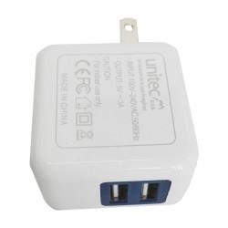 Adaptador De Corriente 2 Puertos USB Unitec